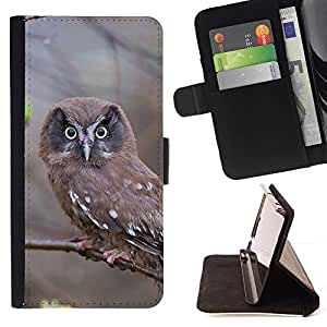 Momo Phone Case / Flip Funda de Cuero Case Cover - INSPECCIÓN DEL BUHO - HTC DESIRE 816