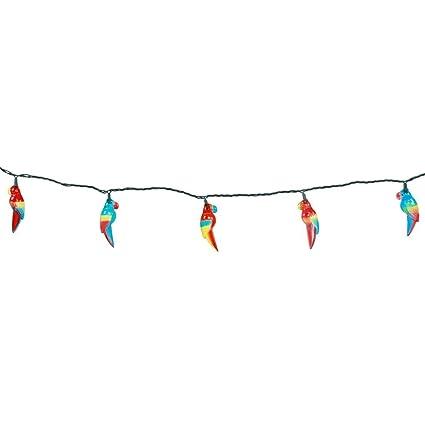 Dei Parrot Novelty Indoor Outdoor String Lights 8 5 Feet 10 Lights