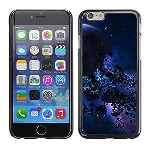 Caucho caso de Shell duro de la cubierta de accesorios de protección BY RAYDREAMMM - Apple Iphone 6 Plus 5.5 - Azul Meteor Espacio