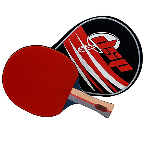 DSP Blade 750 Table Tennis Paddle - Competition ITTF certified Double Power Racket Rubbers -Ideal for Advanced or Intermediate Ping Pong Players looking for Speed, Spin and Control Includes Bag