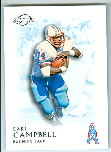 - Earl Campbell football card (Houston Oilers Hall of Fame RB) 2011 Topps Legends #130