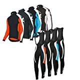 Uglyfrog Bike Wear Cycling Jersey Long Sleeve Men's Bike Suits Long Bib Pant with Gel Pad Winter Fleece Triathlon Clothing