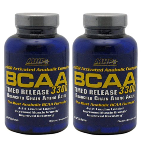 2 x MHP BCAA 3300 / 120 tablets (2 bottles (240 total tablets))
