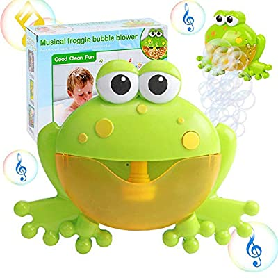 Kingtree Bath Bubble Toy for Kids, Bathtub Bubble Frog Bathing Toys Automatic Musical Bubble Maker with 12 Nursery Rhyme Music, Cute Bubble Blower Machine for Boys and Girls of All Ages: Toys & Games