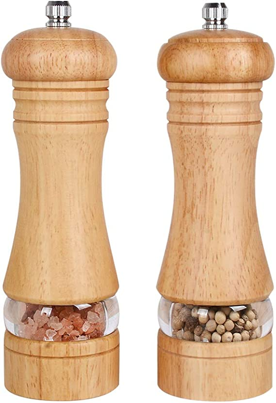 3 Sizes Wooden Manual Pepper Salt Spices Mill Grinder Home Kitchen Tools ni.