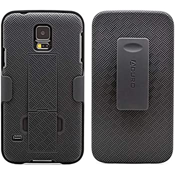 brand new 1614e 9469b Galaxy S5 Case, Aduro Combo Shell & Holster Case Super Slim Shell Case  w/Built-in Kickstand + Swivel Belt Clip Holster for Samsung Galaxy S5