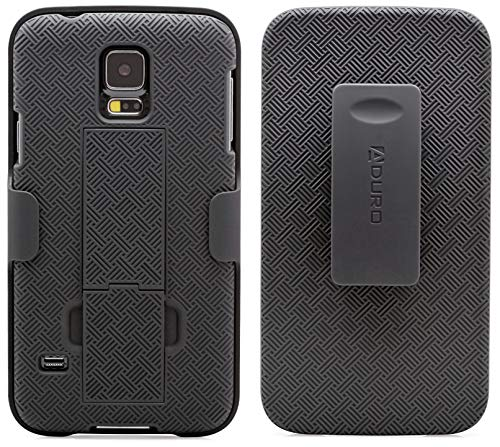 Galaxy S5 Case, Aduro Combo Shell & Holster Case Super Slim