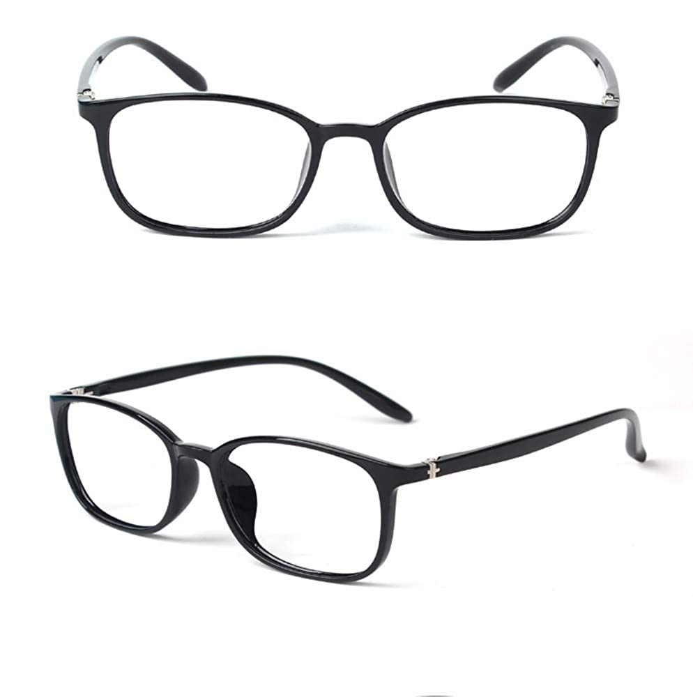 Blu-ray ultra light fashion female elegant flat glasses black