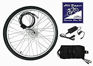 Electric Bike Kit / Electric Tricycle Kit Clean Republic Hill Topper, Lithium Battery Included 5 min Easy Installation Made in US (20'' Wheel + 8 Mile Range Battery)