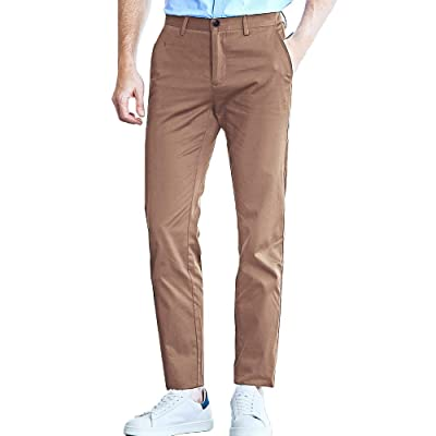 Pioneer Camp Men's Chinos Pants Slim Fit Casual Tapered Cotton Golf Pants at Men's Clothing store