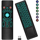 4-in-1 Air Mouse Remote, HIPPIH T6 Air Remote Control, Wireless Mouse and Mini Keyboard Combo with Colorful Backlight and Touchpad for TV, PC, Phone