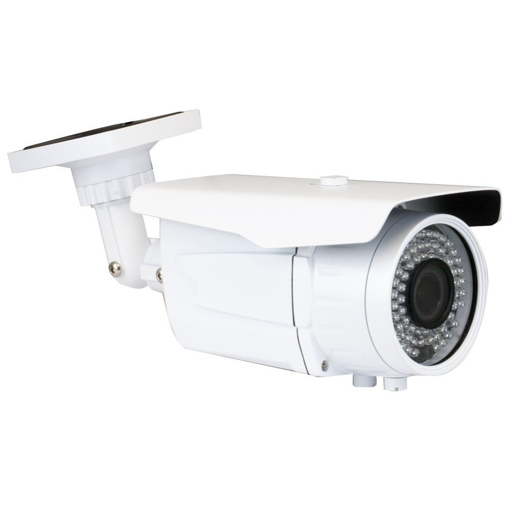 GW Security 2.1MP 1080p 4-in-1 HD TVI / AHD / CVI / CVB 1200TVL CCTV Outdoor Bullet Security Camera, 2.8-12 mm Varifocal Zoom Lens, 72 LED, 196-Feet IR Distance by GW Security Inc