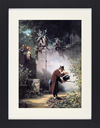 1art1 113586 Carl Spitzweg - Der Blumenfreund, 1855 Gerahmtes Poster Fü r Fans Und Sammler 40 x 30 cm