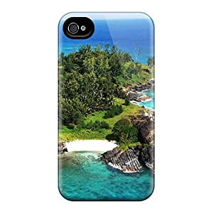Excellent Design Beautiful Point On The Seychelles Isl Phone Case For Iphone 4/4s Premium Hard Case