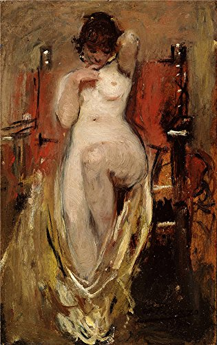 Oil Painting 'Pinazo Camarlench Ignacio Desnudo Femenino 1894' 10 x 16 inch / 25 x 40 cm , on High Definition HD canvas prints is for Gifts And Game Room, Living Room And Study Room decor, (Bleu Electric Wall Sconce)