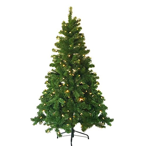 Artificial Christmas Tree, Neon king 4 ft Premium Hinged Fir Pencil Tree with 80 LED Clear Lights & Solid Stand for Indoor, Warm White Light (Christmas Tree Artificial)