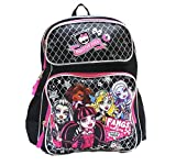 "Best Monster High High School Back Packs - Monster High Backpack 16"" Large School Backpack Book Review"