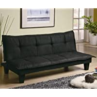 300238 Casual Padded Convertible Sofa Bed in Black by Coaster Co.