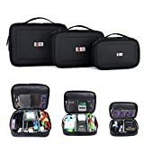 BUBM Waterproof Portable Electronic Accessories Travel Organizer Case (3pcs/set L+M+S)