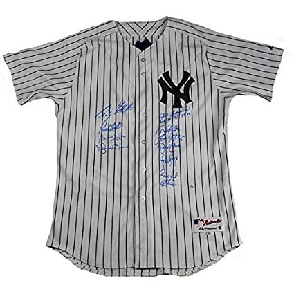 huge selection of 4fce0 01a56 New York Yankees Dynasty 11 Signature Authentic #6 Pinstripe ...