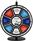 18in Insert Your Own Graphics Dry Erase Prize Wheel with Black Magnetic Frames and Table Stand