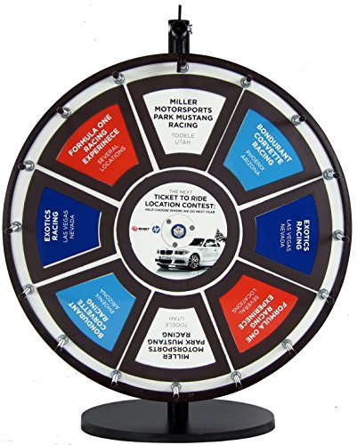 18in Insert Your Own Graphics Dry Erase Prize Wheel with Black Magnetic Frames and Table ()
