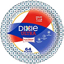 Dixie Ultra Paper Plates, Snack/Lunch Size (8 1/2 inches), Pack of 64 Count