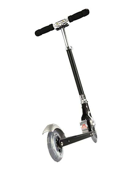 Scooter para niños plegable Micro Sprite, color negro con lija rayada: Amazon.es: Deportes y aire libre