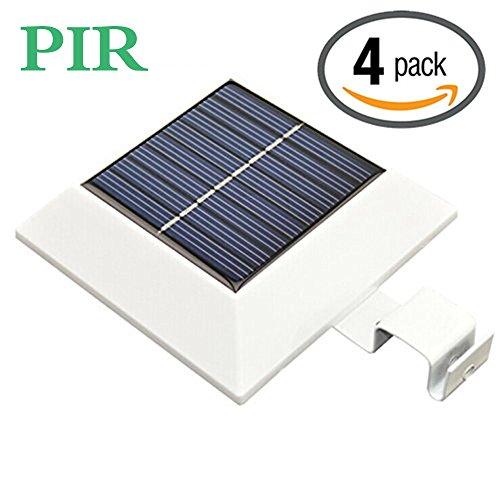 [Upgrade PIR Sensor]HKYH 4 Pack Solar Motion Sensor Secur...