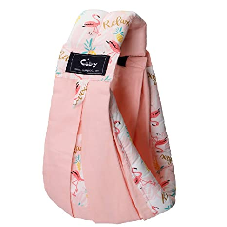 Infant Toddler and Ideal for Baby Registry Natural Cotton Baby Sling Baby Holder Extra Comfortable for Easy Wearing Carrying of Newborn Rainbow Baby Carrier by Cuby