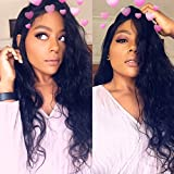 Cici Collection Lace Front Wigs 250% High Density Lace Front Human Hair Wigs For Black Women 7A Brazilian Wig Deep Curly Lace Front Human Hair Wigs (16inch, Body Wave)