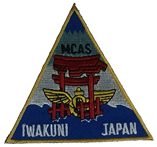 MARINE CORPS AIR STATION IWAKUNI JAPAN TRIANGLE STATION PATCH - Color - Veteran Owned Business