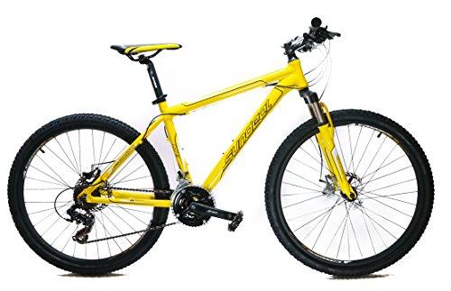 "17"" Sundeal M1 26"" Hardtail Mountain Bike Disc Shimano 3x7 MSRP $349 Yellow NEW"