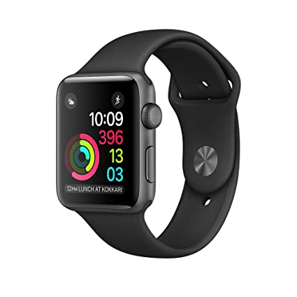 b2c7cf0bd1153 Apple Watch Series 1-42mm Space Gray Aluminum Case with Black Sport Band
