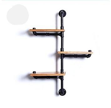 Wandregal Regallager Dekorationen/Bookcases Solid Holz Wasserrohr Regale  Erhöhten Eisen Dekoration Rack Für Wohnzimmer