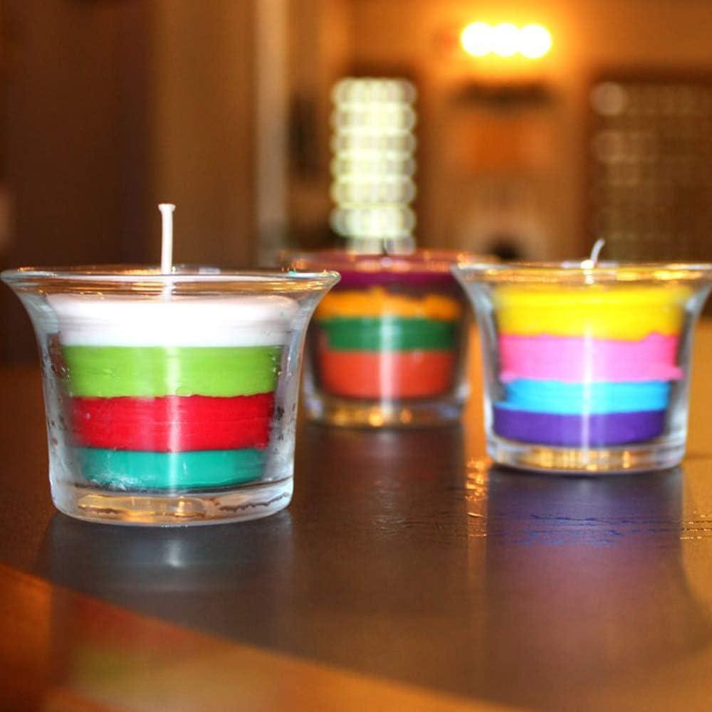 DIY Kerzen 18 Farben x 5 g Farbfarbe f/ür Wachs 18 Colour*5g Soja-Kerzenwachs zum F/ärben von Kerzen
