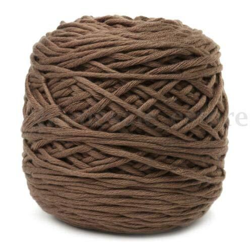 FidgetKute 200g Soft Smooth Cotton Natural Double Knitting Wool Yarn Ball Baby Woolcraft #12 Dack Camel
