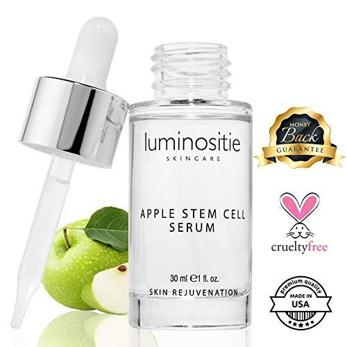 Swiss Apple Stem Cell Face Serum - Skin Cell Renewal Therapy   Anti Wrinkle, Anti Aging Skin Serum W/Malus Domestica (1oz)