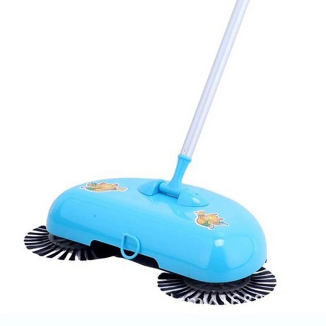 Sansee New 360gradi rotante Household Automatic Hand Push Sweeper scopa, Magic manuale telescopica pavimento polvere Sweeper Multicolor