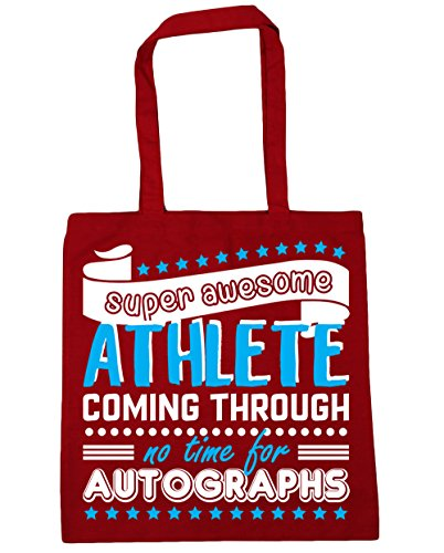 10 Bag No 42cm Shopping Gym Athlete Super Through Beach Classic Time litres Autographs Tote For Red Coming HippoWarehouse Awesome x38cm qwXBA6OAa