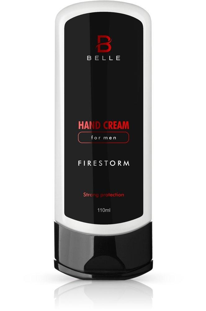Belle® crema de manos para hombres–Firestorm–con Peach Kernel Aceite, Urea y glicerina–firmemente regenera piel seca y agrietada de manos