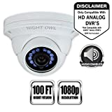 Night Owl Security CAM-4PK-HDA10W-BU HD Wired Security Bullet Cameras, 1080p(White)-Pack of 4