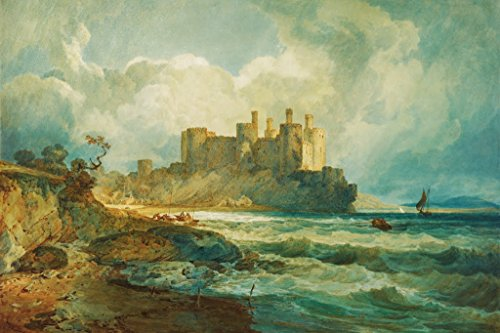 ArtParisienne Conway Castle North Wales by Joseph Mallord William Turner Paper Giclée Fine Art Print, 21