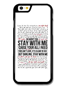 Sam Smith Stay With Me Lyrics case for iPhone 6 by runtopwell