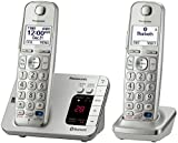 Panasonic KX-TGE262S Link2Cell Bluetooth Enabled Phone with Answering Machine, 2 Cordless Handsets, Silver (Renewed)