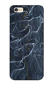 Hard Plastic Iphone 6 Plus Case Back Cover, Hot Wavy Pattern Case For Christmas's Perfect Gift
