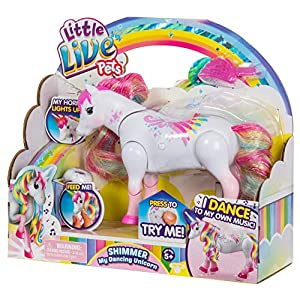 Little Live Pets Shimmer My Dancing Unicorn Rainbow Colors