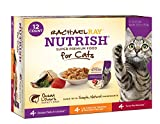(US) Rachael Ray Nutrish Natural Wet Cat Food, Variety Pack, Fish Lovers, Grain Free, 2.8 oz tub, Pack of 12