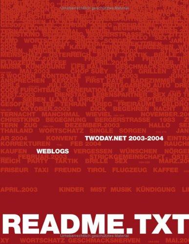 readme.txt twoday.net 2003: Weblogs zum Vor- und Nachlesen