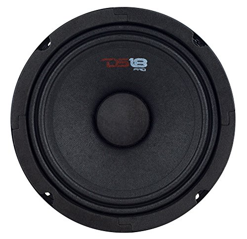 "DS18 PRO-GM8 Loudspeaker - 8"", Midrange, Black Steel Basket,"